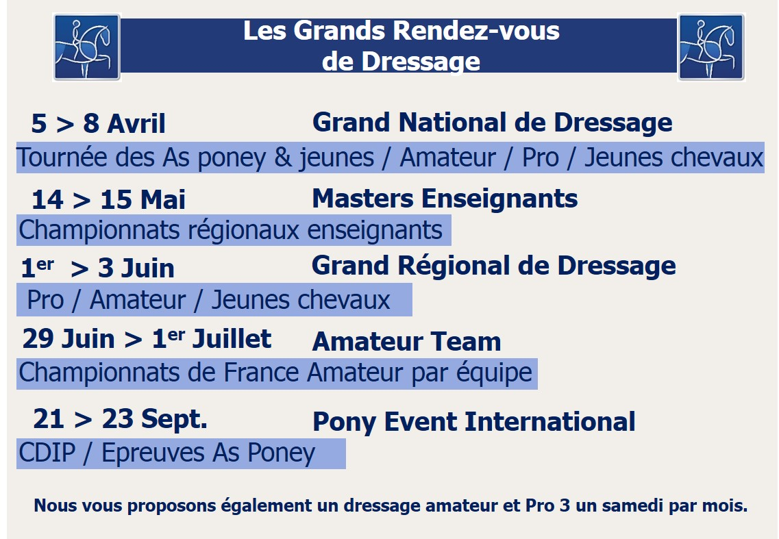 Grands rdv dressage